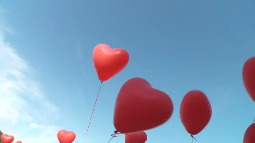 Helium Balloons Floating Through the Stock Footage Video (100