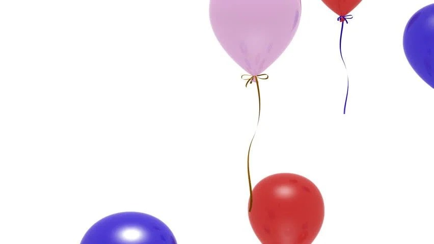 Colorful Balloons Floating Upward Over Stock Footage Video (100