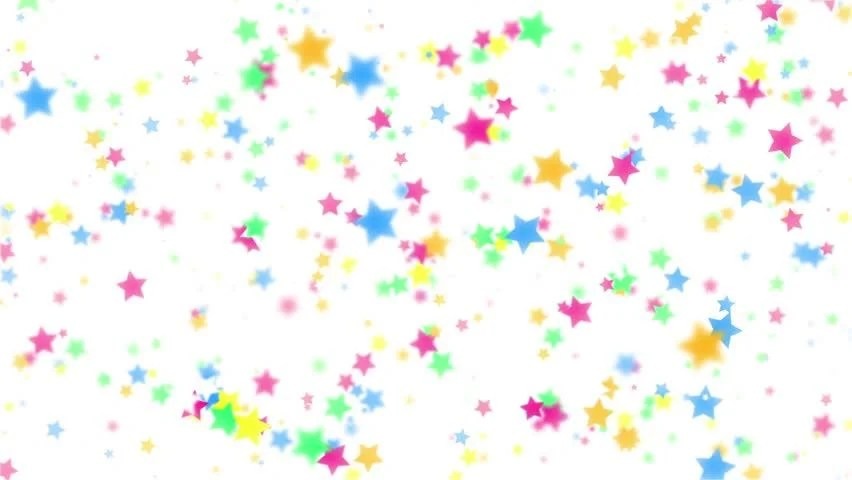 New 3d Animation Wallpaper Animation Of Colorful Stars Falling Stock Footage Video