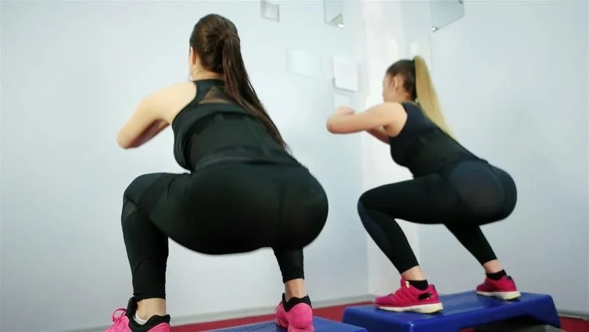Gym Workout Girl Wallpaper Step Aerobics Footage Page 2 Stock Clips