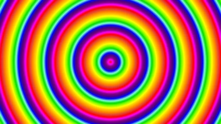 3d Geometric Shapes Wallpaper White Zoom In Rainbow Color Half Circle Design Stock Footage