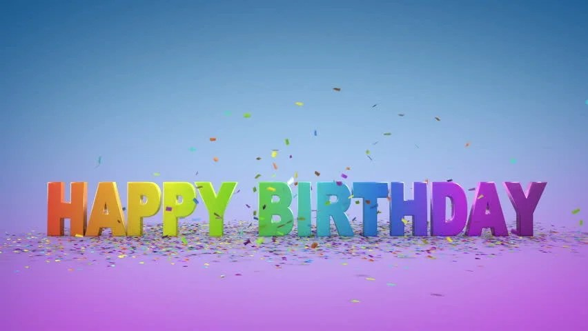 3d Abstract Rainbow Wallpaper Stock Video Of Happy Birthday 3d Animation 2752439