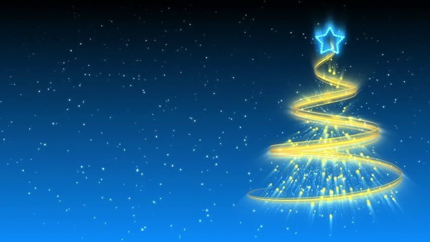 Christmas Tree Background - Merry Stock Footage Video (100 Royalty