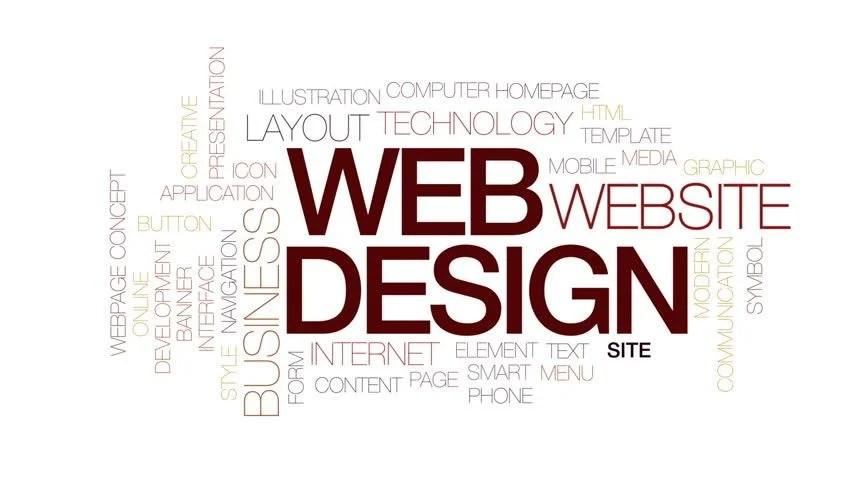 Web Design Animated Word Cloud, Stock Footage Video (100