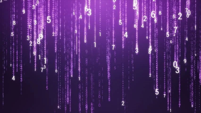 Falling Matrix Wallpaper Matrix Style Green Binary Code Rain Looped Animation Stock