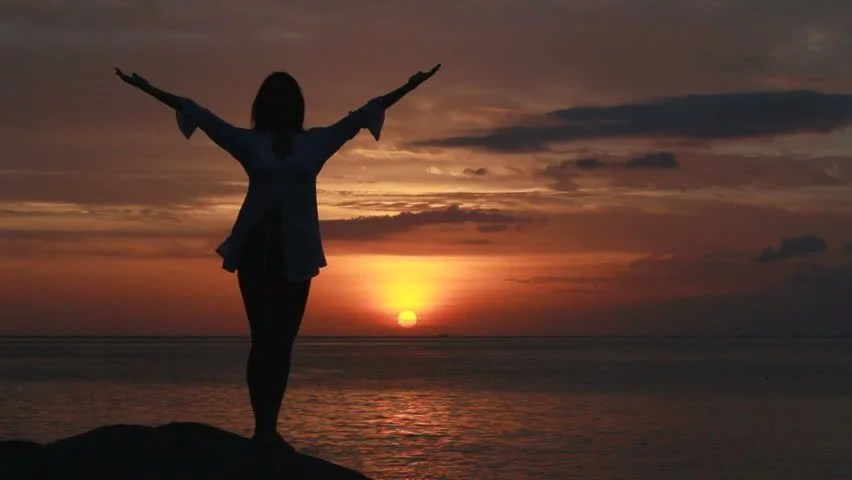 Night Is Short Walk On Girl Wallpaper Happy Woman Dancing On The Beach At Sunset With Sea