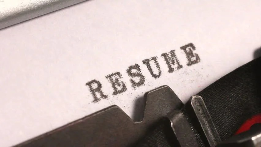 Typing a Resume or Curriculum Stock Footage Video (100 Royalty-free