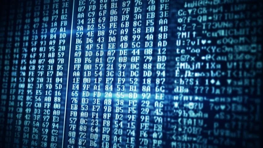 Computer Data On Screen Computer Stock Footage Video (100