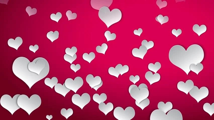 Valentines Day Cute White Heart Stock Footage Video (100 Royalty