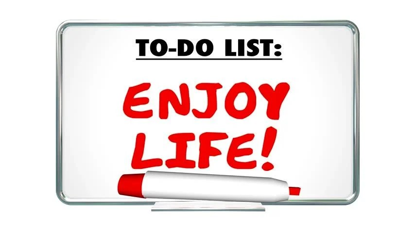 Enjoy Life to Do List Stock Footage Video (100 Royalty-free