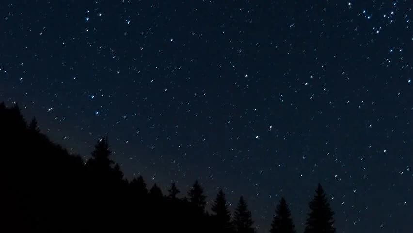 Gravity Falls Wallpaper 4k Timelapse Of Stars Moving In Night Sky Over Pine Trees