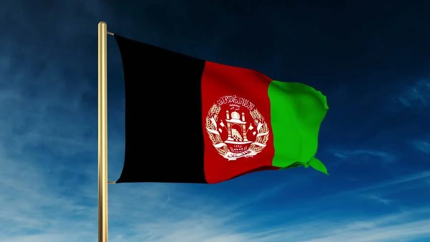 Afghanistan Flag Hd Wallpaper Afghanistan Flag With Fabric Structure 4k Loop Green