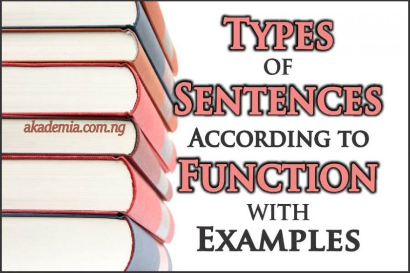 Types of Sentences According to Function with Examples - Akademia