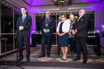 Włodzimierz Kiciński (Członek AG) wygłasza laudację na cześć laureatów nagrody Prix de la Littérature Gastronomique