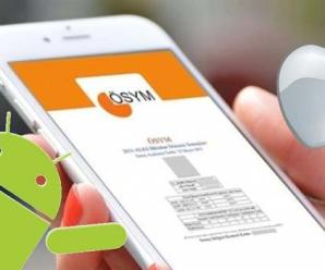 ÖSYM Mobil Android ve iOS uygulaması ile sınav sonuçları cepte!