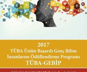 TÜBA Genç Bilim İnsanlarını Ödüllendirme Programı Başvuruları Başladı