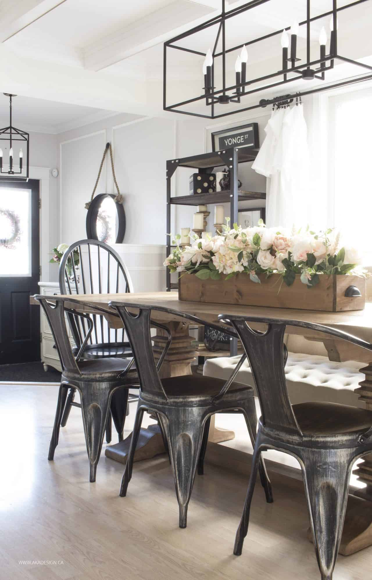 Large Kitchen Island Centerpieces Our Current House Tour - Modern Farmhouse Style In The Suburbs