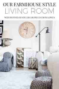 Our Farmhouse Style Living Room with Refined Rustic Decor ...