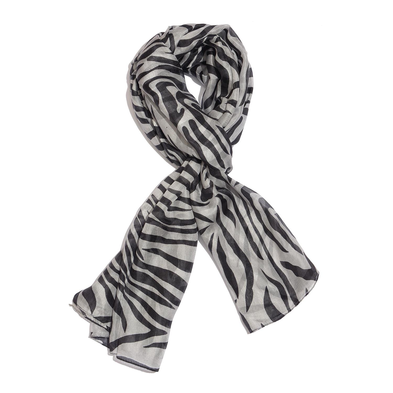 Black and White Zebra Pattern 100% Natural Mulberry Silk