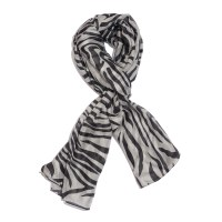Black and White Zebra Pattern 100% Natural Mulberry Silk