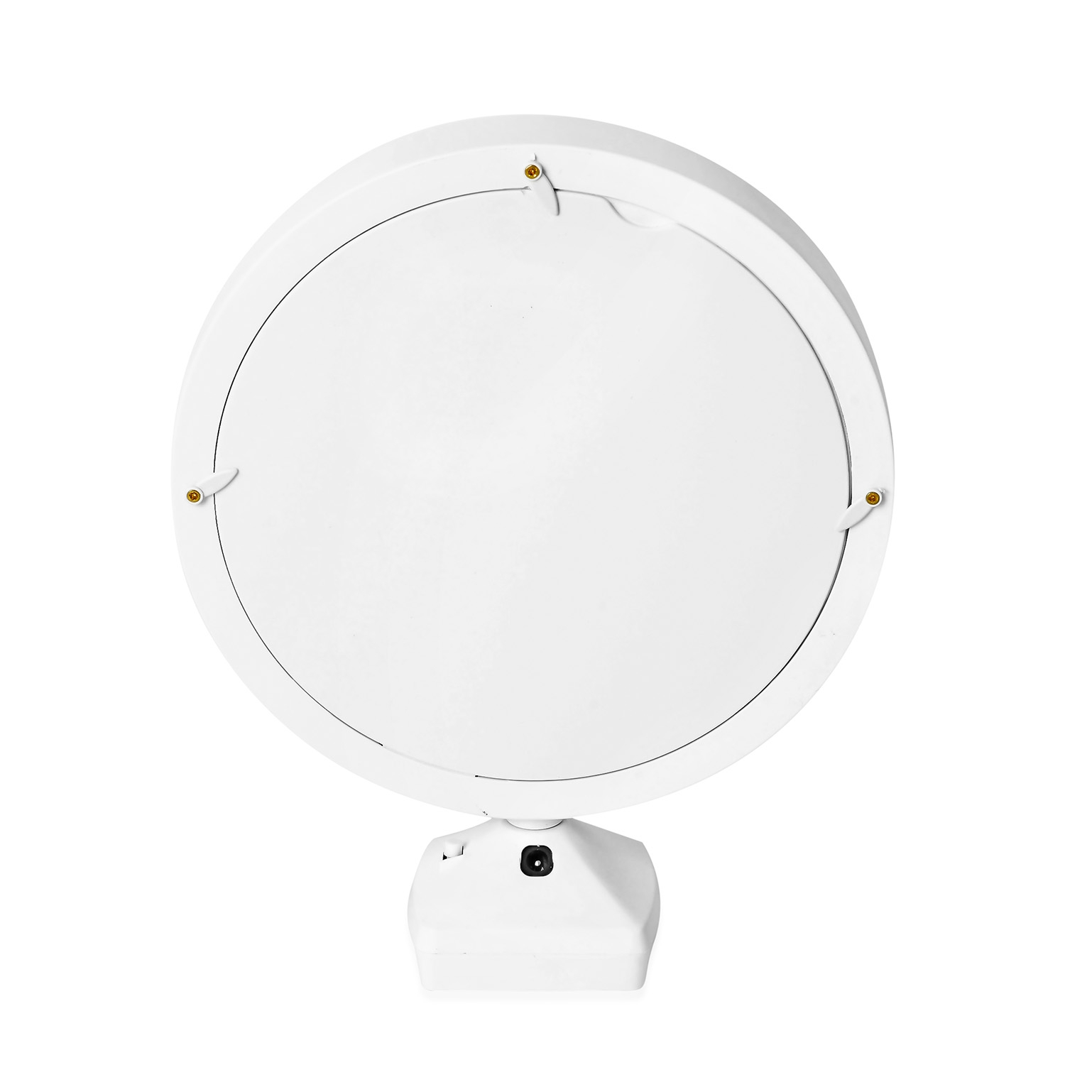 Led Unterbauleuchte Rund Batterie White Glass Round Shape Led Photo Frame Mirror 3xaaa