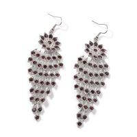 Purple Austrian Crystal Silvertone Chandelier Earrings and ...