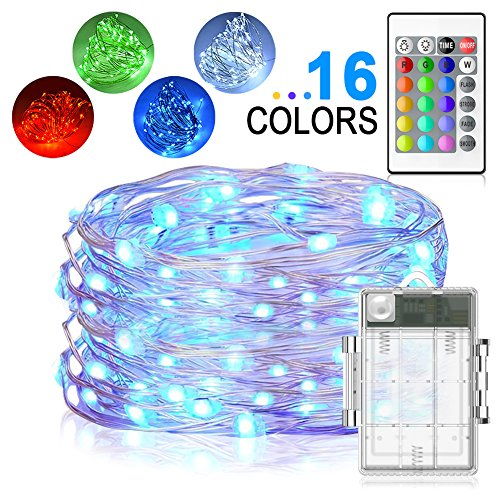 LED String Lights, Yoozon 16ft 50 LEDs Fairy Lights Battery Operated