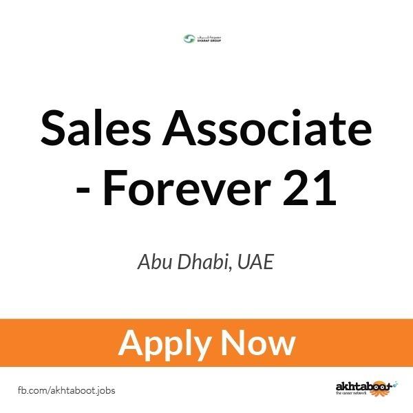 Sales Associate - Forever 21 job at Sharaf group in Abu Dhabi, UAE