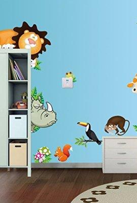 1-X-Zooyoo-Jungle-Wild-Animal-Vinyl-Wall-Sticker-Decals-for-Kids-Baby-Bedroom-0
