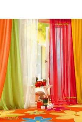 6-Piece-Rainbow-Sheer-Window-Panel-Curtain-Set-Blow-Out-Pprice-Special-Lime-Orange-Red-White-Bright-Yellow-Navy-0