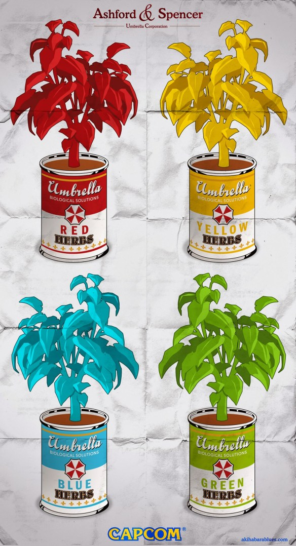 Resident Evil a lo Andy Warhol, por Roswell