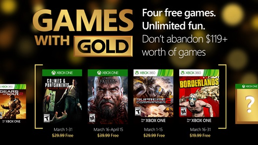 Xbox presenta los Games With Gold de marzo