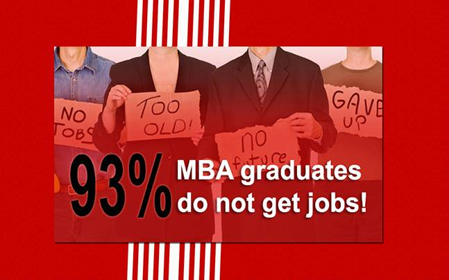93 per cent MBA graduates are unemployable Problems with management