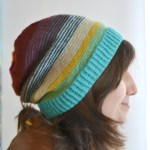 Sock Stashbuster Slouch Hat. aknitica.com #stashbusters #knitting