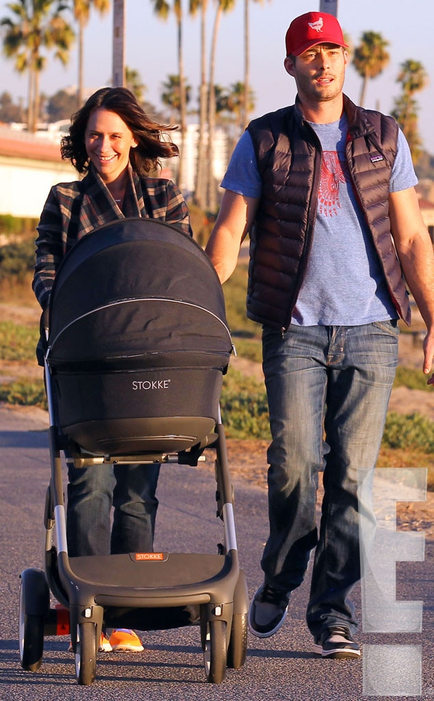 Baby Stroller In Usa Jennifer Love Hewitt Out With Baby Autumn And Husband