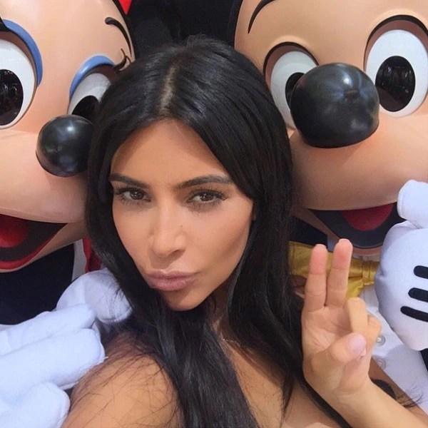 Kim Kardashian Goes To Disneyland As Kanye West And Drake