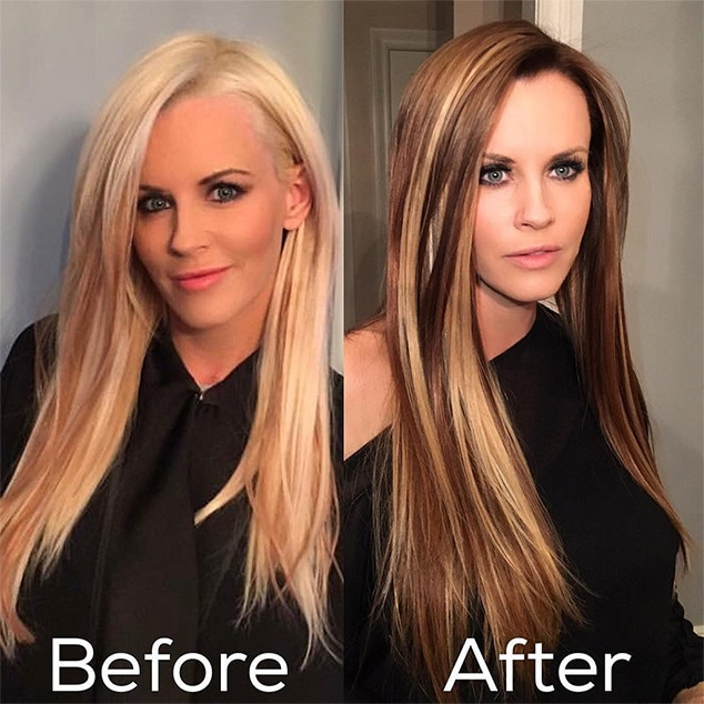 How Long Does Hair Highlights Last Jenny Mccarthy Is Now A Brunette And Takes Us Back To