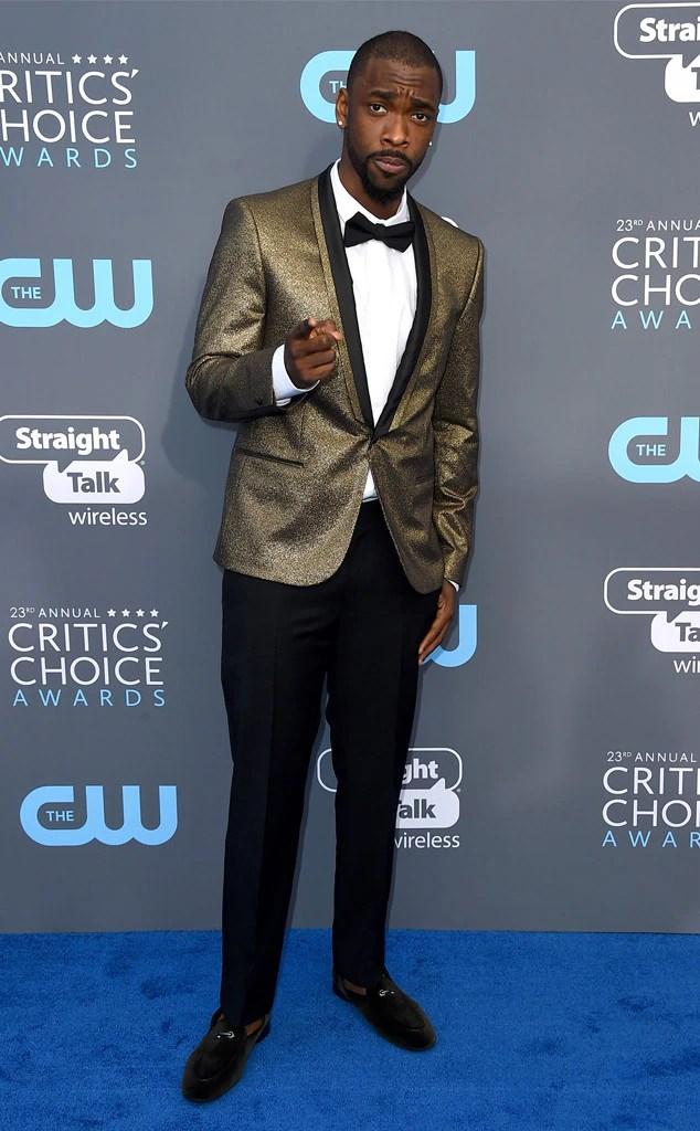Jay Pharoah From 2018 Critics39 Choice Awards Red Carpet