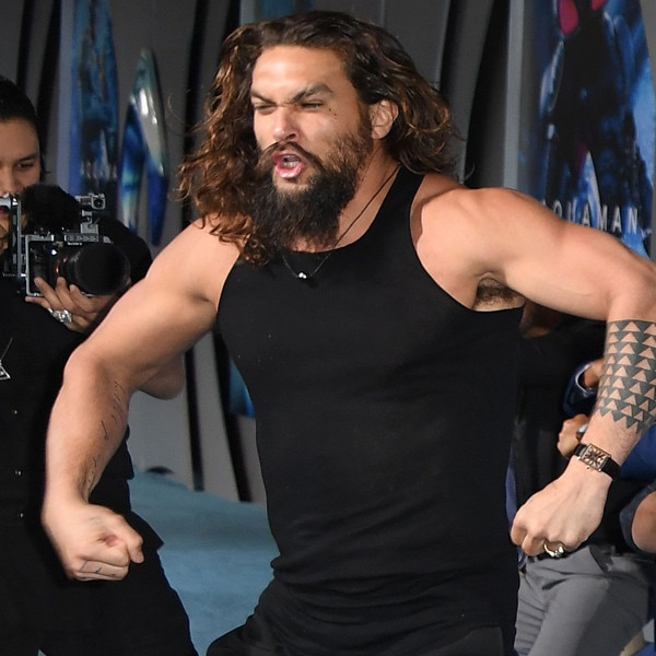 Watch Jason Momoa Lead An Epic Haka Dance At The Aquaman