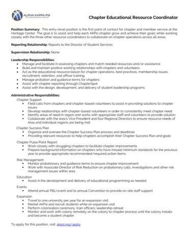 Chapter-Educational-Resource-Coordinator-Job-Description - Alpha