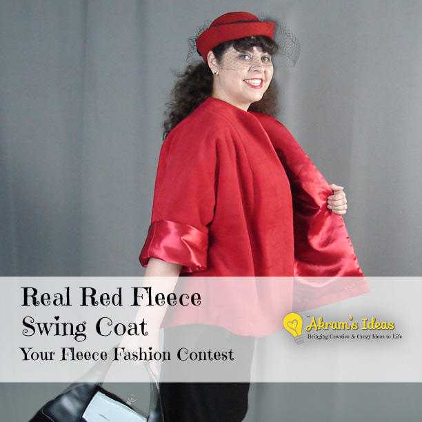 Red Fleece Swing Coat - Simplicity 4191