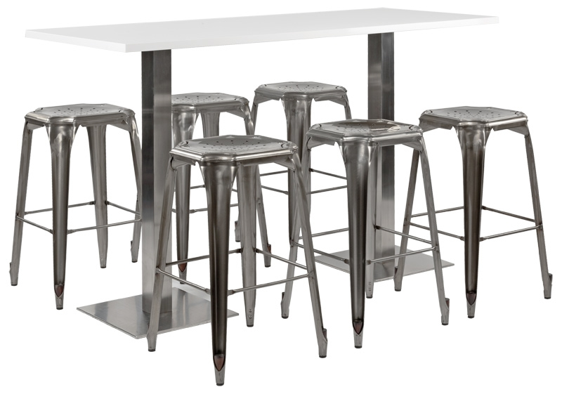 Table Mange Debout 6 Personnes Location Mange-debout Stan Rectangulaire