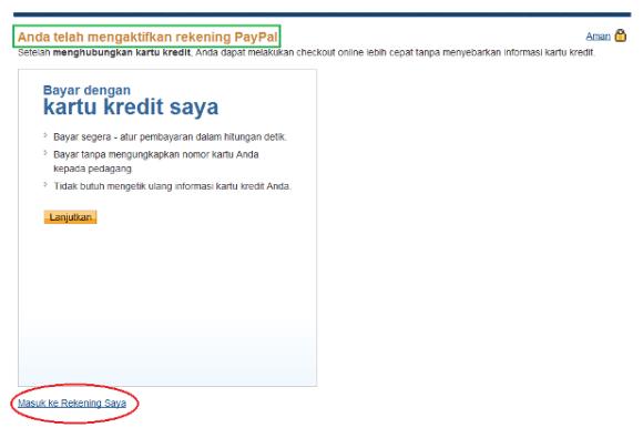 cara verifikasi paypal melalui kartu kredit atau bisa juga dengan VCC