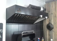 Kitchen professional exhaust hoods with filters. Kitchen ...