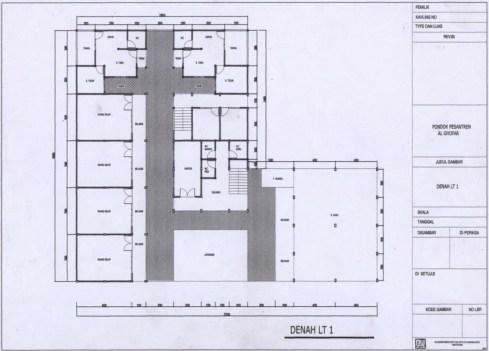 Denah Gedung Lantai 1