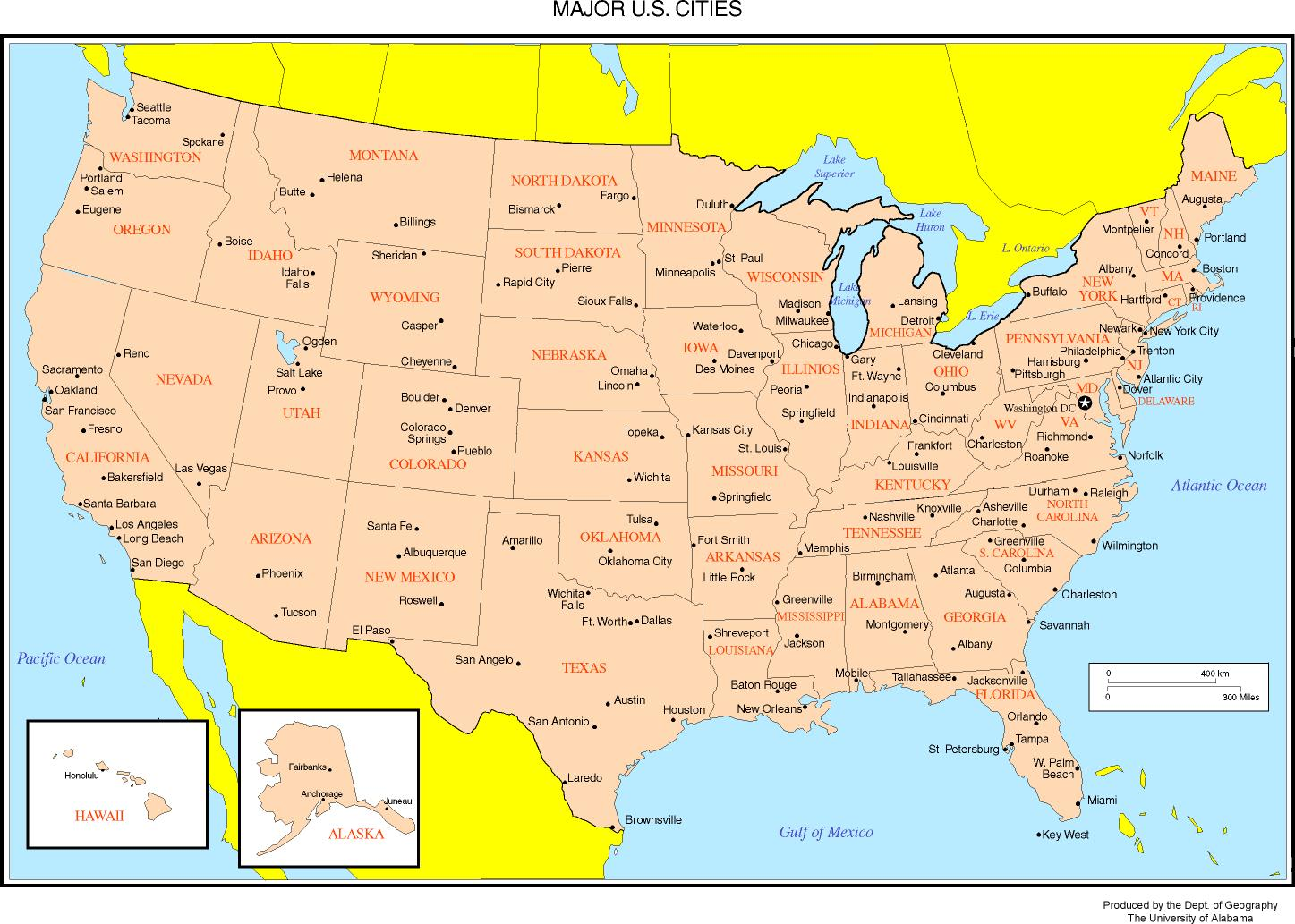 US Time Zones Map OnTimeZonecom Time Zones For The USA And North - Map of us states time zones