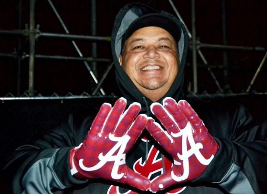 Arthur Ayers of McCalla shows his Crimson pride. (Solomon Crenshaw Jr./Alabama NewsCenter)