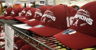 Academy Sports had a large variety of items noting the Crimson Tide's national championship. (Solomon Crenshaw Jr./Alabama NewsCenter)