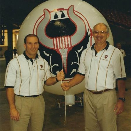 Art Clarkson, right, poses with Scott Myers, then the assistant general manager of the Birmingham Bulls. (contributed)