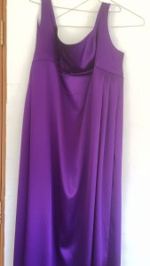 Purple satin underdress